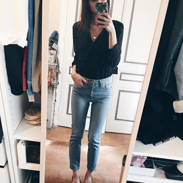 Monday Outfit in sezane monday outfit jean love shoes leopardhellip
