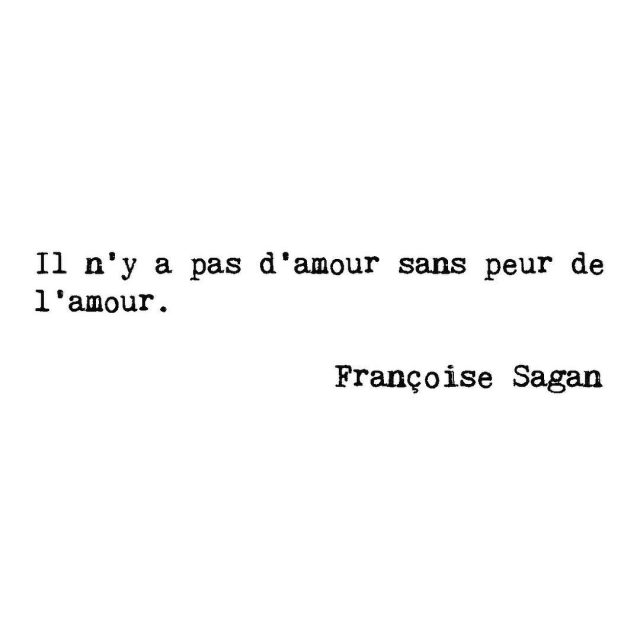 quote pretty words french writer there is no lovehellip